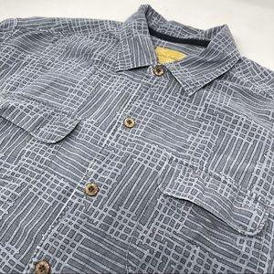 Tommy Bahama Geometric Short Sleeve Hawaiian Shirt